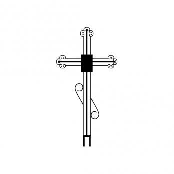 Крест металлический №6