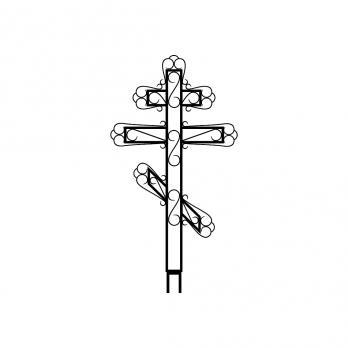 Крест металлический №7