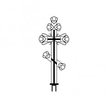 Крест металлический №10