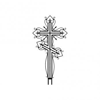 Крест металлический №12